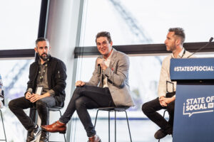 panel discussion at state of social - digital marketing conference