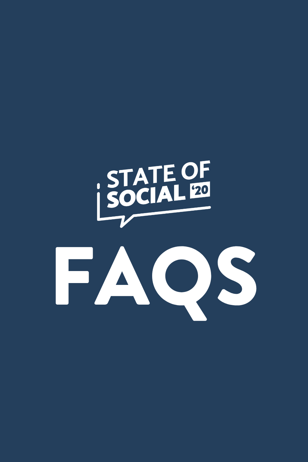 Curious to learn more about #StateofSocial20? Click here to read answers to all our frequently asked questions from coat check to the food supplied »