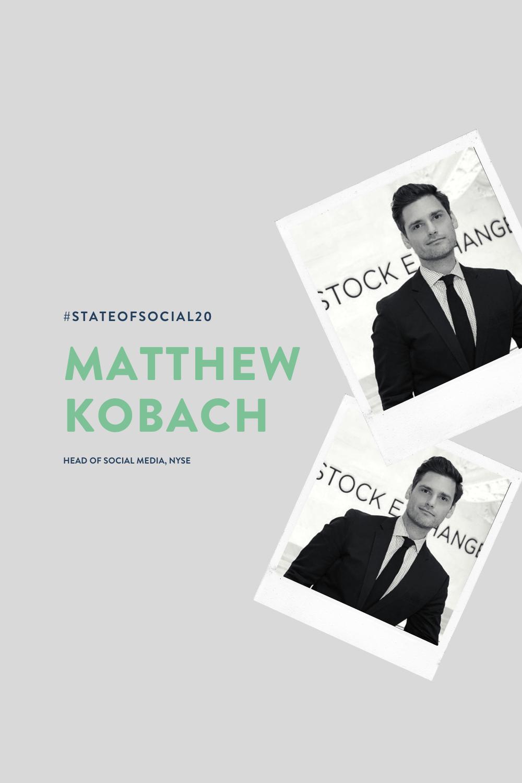 SPEAKER ANNOUNCEMENT: Matthew Kobach