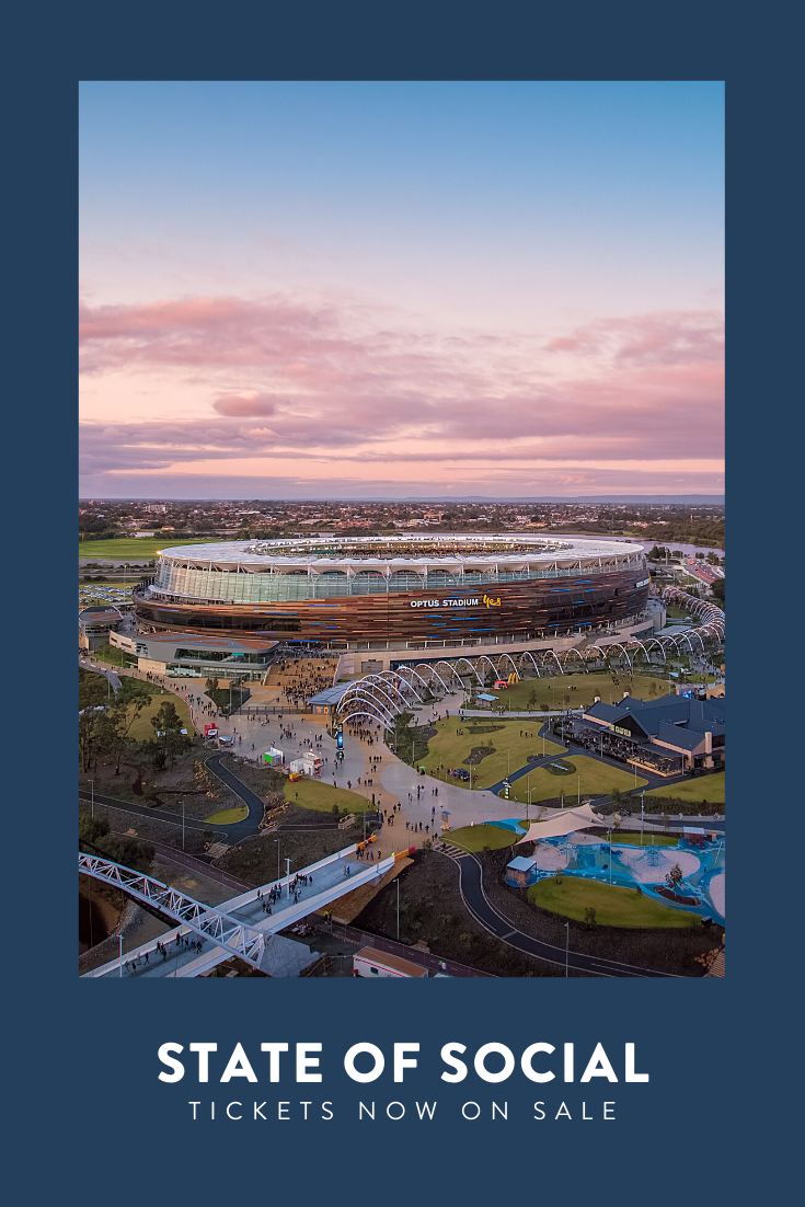 With stunning views to rival the insights from our keynote speakers, Optus Stadium, the home of State of Social, is a memorable venue for our event.  #stateofsocial20 #socialmediaconference #digitalmarketingconference