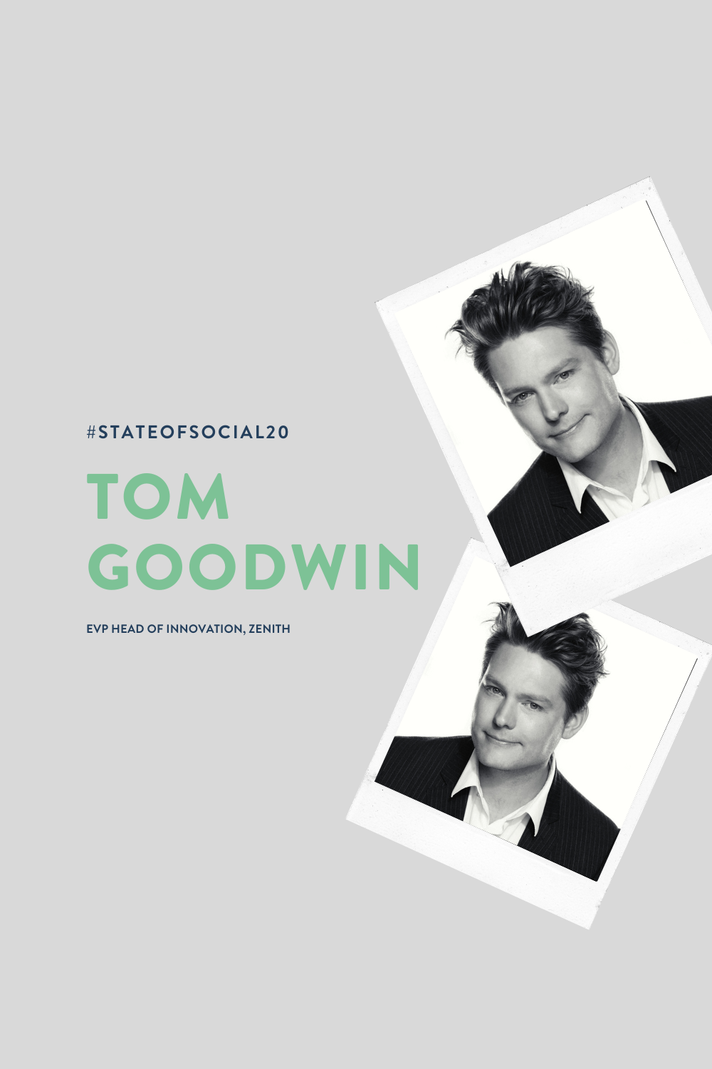 Join bestselling author of Digital Darwinism Tom Goodwin at State of Social '20 and make sure you're among the fittest to survive and thrive in the disruptive dog-eat-dog domain of digital marketing.