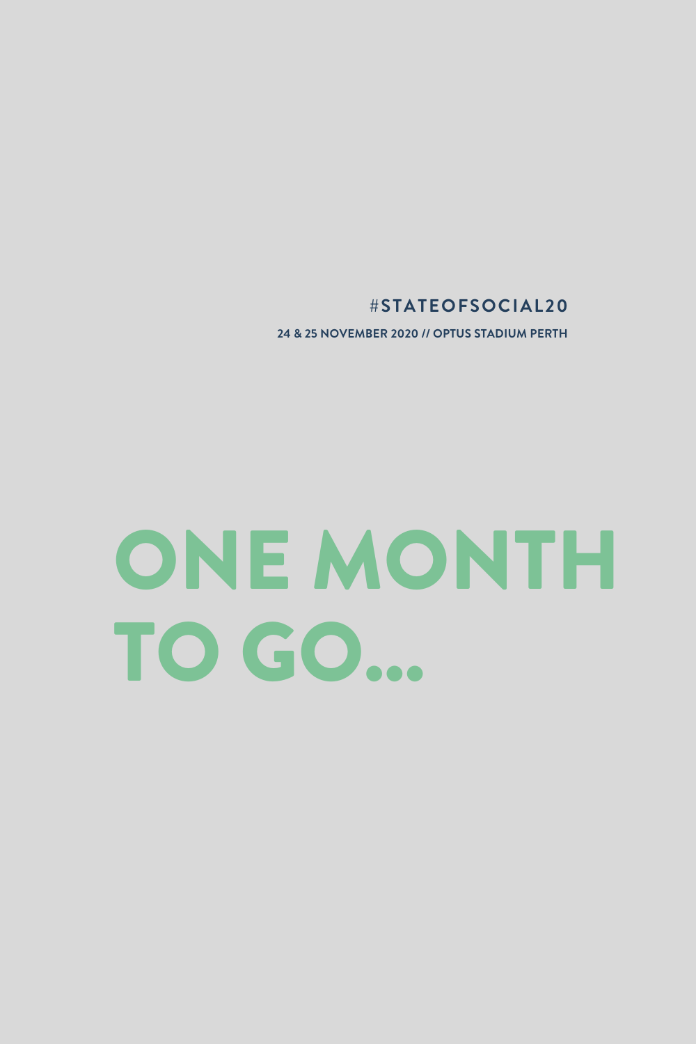 One month until State of Social '20 turns your 2020 frown upside down