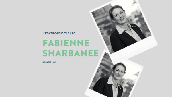 Fabienne Sharbanee at State of Social '20 - Social Media & Defamation