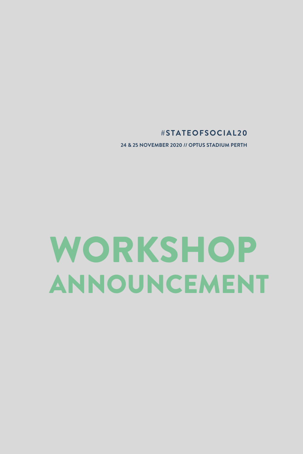 SOS '20 workshop announcement: Social stories and puppies