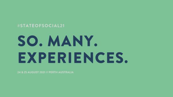 so. many. experiences.